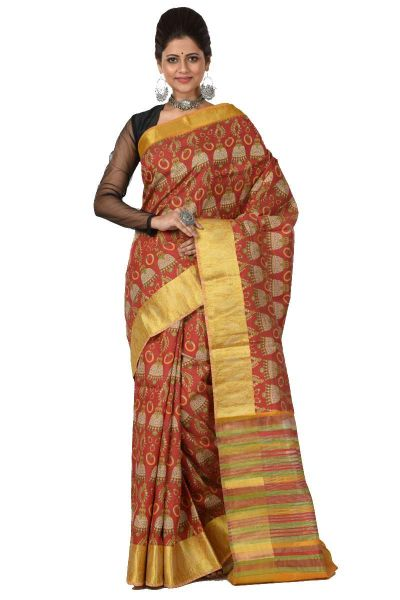 Printed Topeto Silk Saree (adi43018)