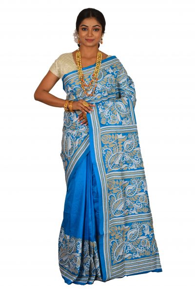Pure Kantha Stitch Saree (adi63676)
