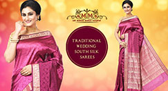 Beautiful south Indian wedding saree to emphasize your natural beauty