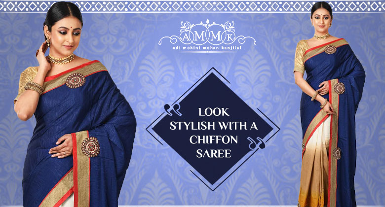 Rich and intricately woven Chiffon Sarees for a graceful look