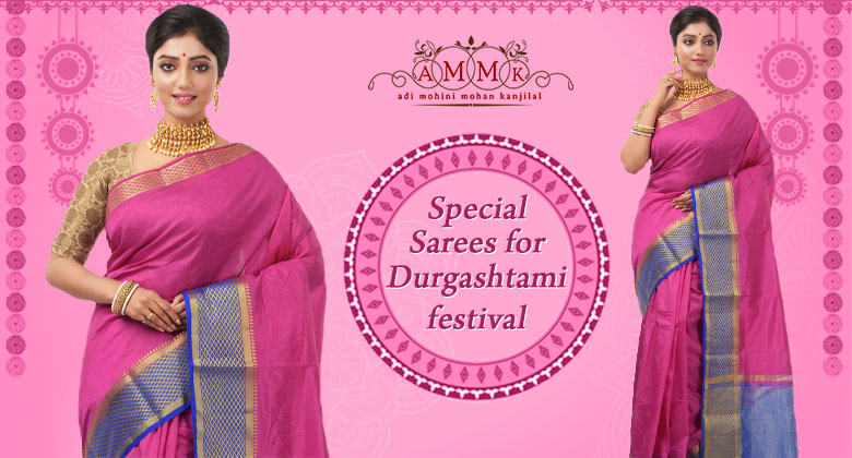 Wear something chic and traditional on this Durgashtami Festival