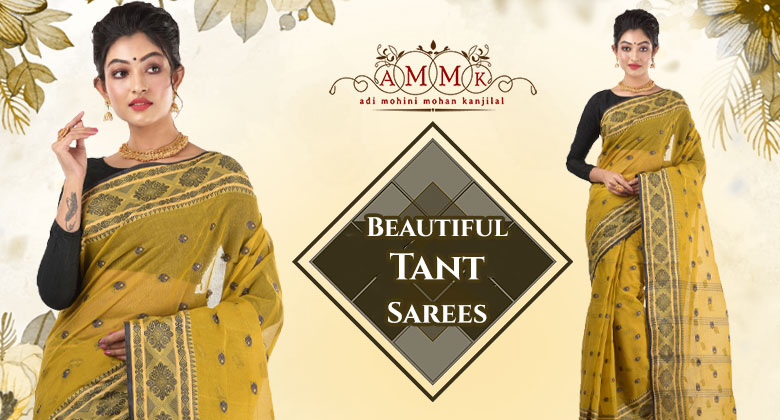 Most delicate & feminine Tant saree for a traditional Bengali look