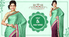 Rising trend of Half and Half saree for party celebrations