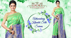 Sparkling collection of Khaddi silk sarees online