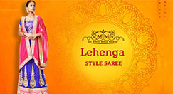 Get the special look by wearing a saree like a lehenga